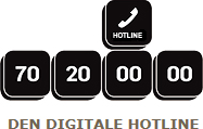 Den Digitale Hotline. Tlf: 70 20 00 00